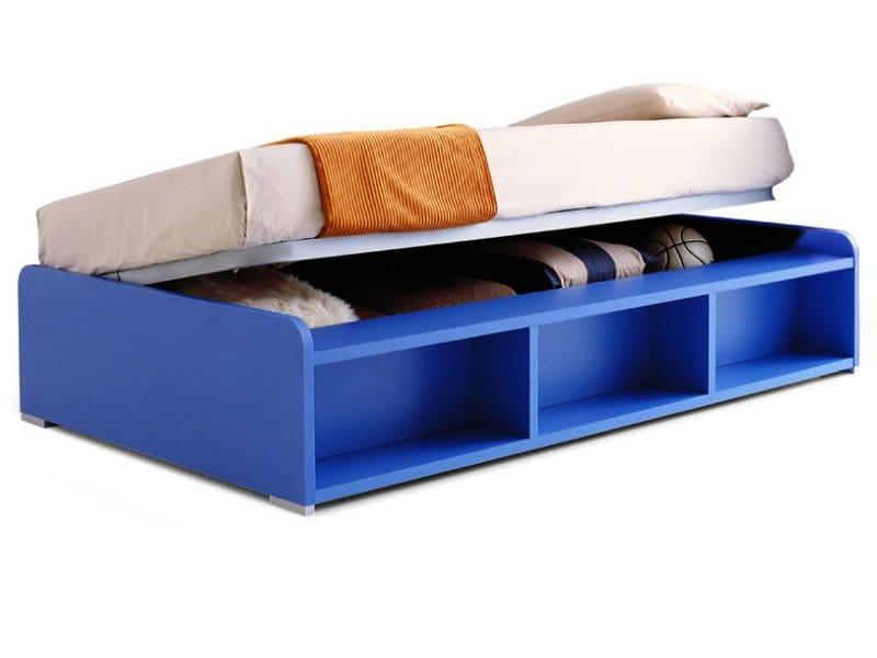 bett aus melamin mit bettkasten king zalf. Black Bedroom Furniture Sets. Home Design Ideas