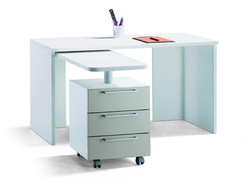 Escritorio de melamina con cajones para habitaciones de - Mesas escritorio para ninos ...