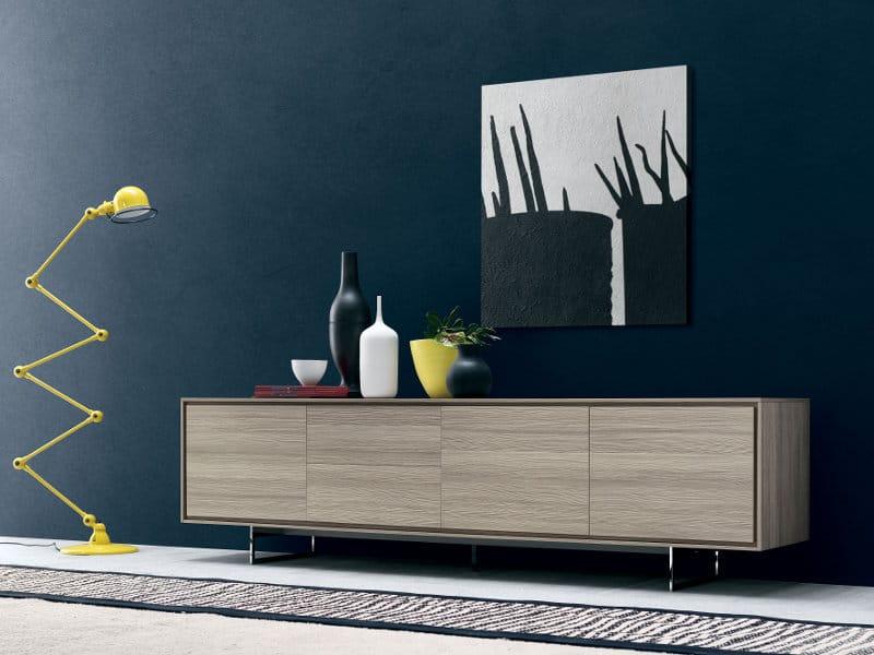 Buffet avec portes avec tiroirs shadows collection tempo libero by novamobili design giopato - Credenze basse ikea ...