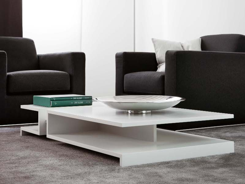 LOW RECTANGULAR WOODEN COFFEE TABLE FOR LIVING ROOM CHAIN BY NOVAMOBILI