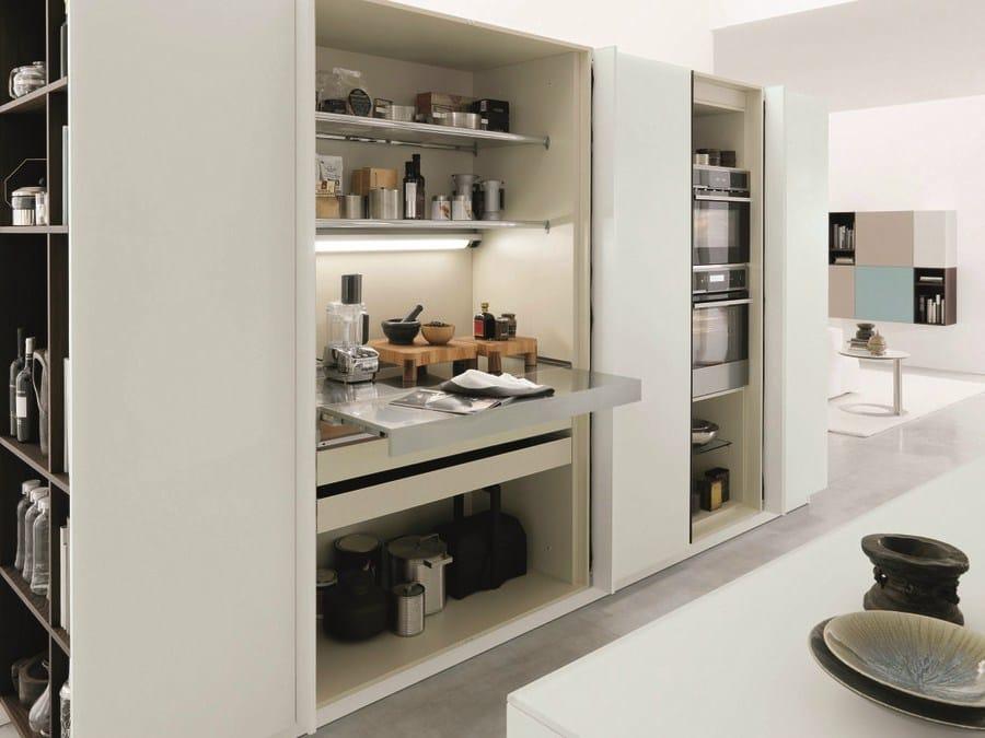 cucina componibile in legno kubic 1 by euromobil design roberto gobbo - Cucina Euromobil