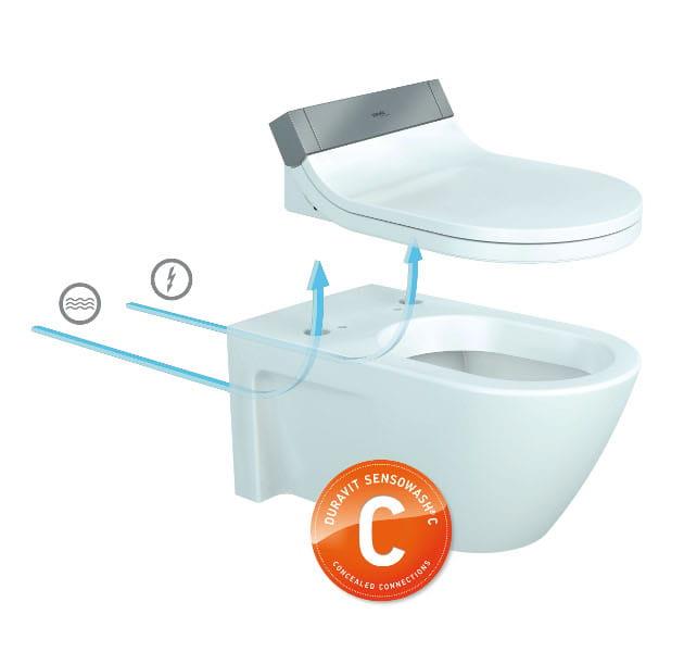 sedile wc elettronico sensowash starck c by duravit. Black Bedroom Furniture Sets. Home Design Ideas