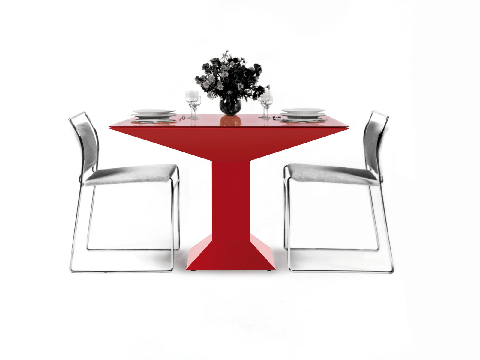 table carr e design mettsass by bd barcelona design design ettore sottsass jr. Black Bedroom Furniture Sets. Home Design Ideas
