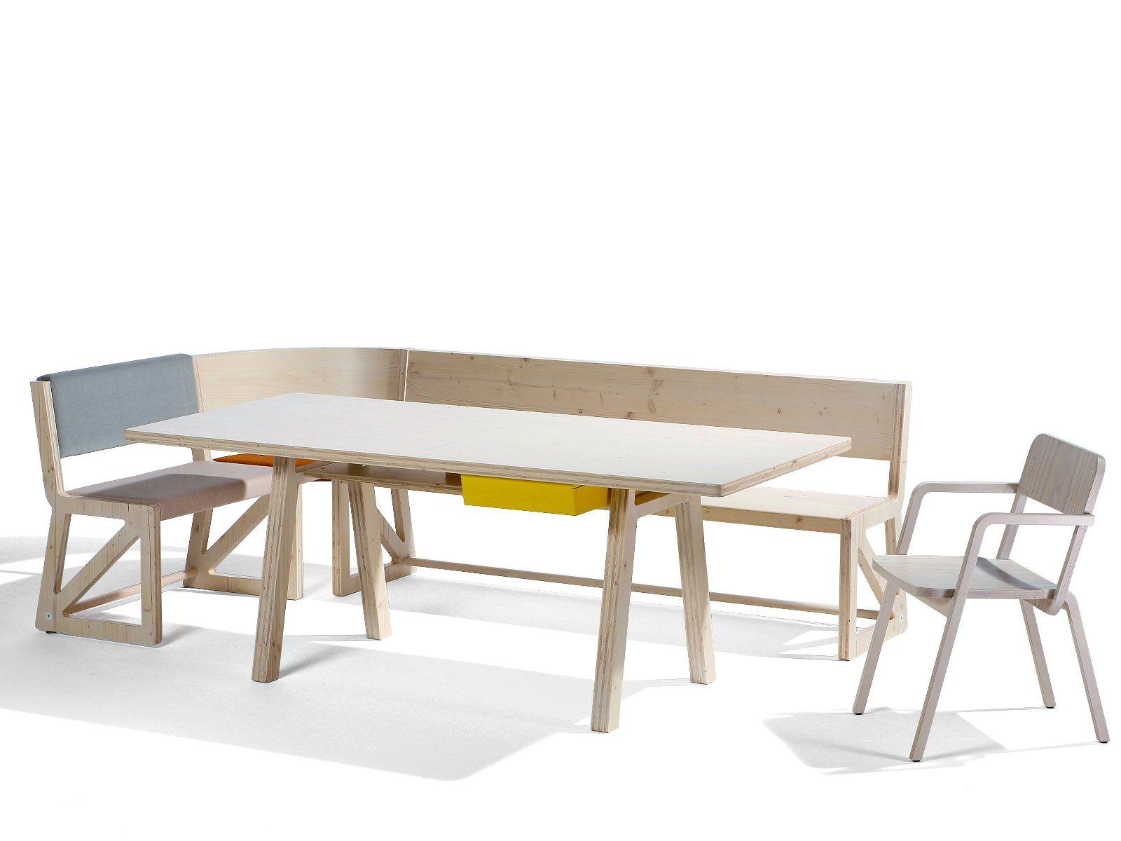 Panche moderne per tavolo la scelta giusta variata sul - Panche in legno per cucina ...