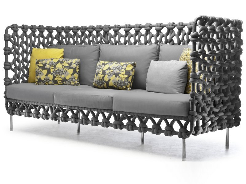 Cabaret sofa by kenneth cobonpue design kenneth cobonpue for Sofa exterior reciclado