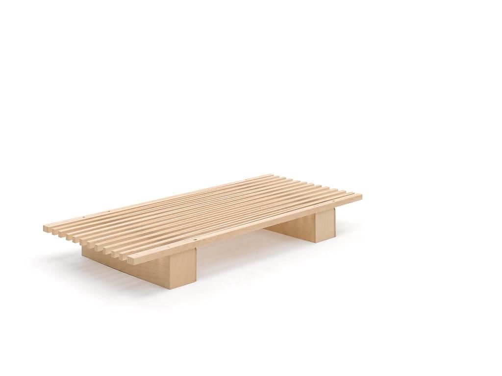 Ausziehbarer federrahmen aus buche v by tojo möbel design roy schäfer