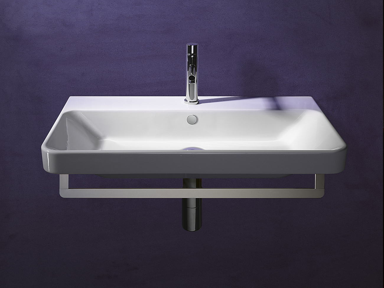 rechteckiges h nge waschbecken aus keramik proiezioni 75. Black Bedroom Furniture Sets. Home Design Ideas