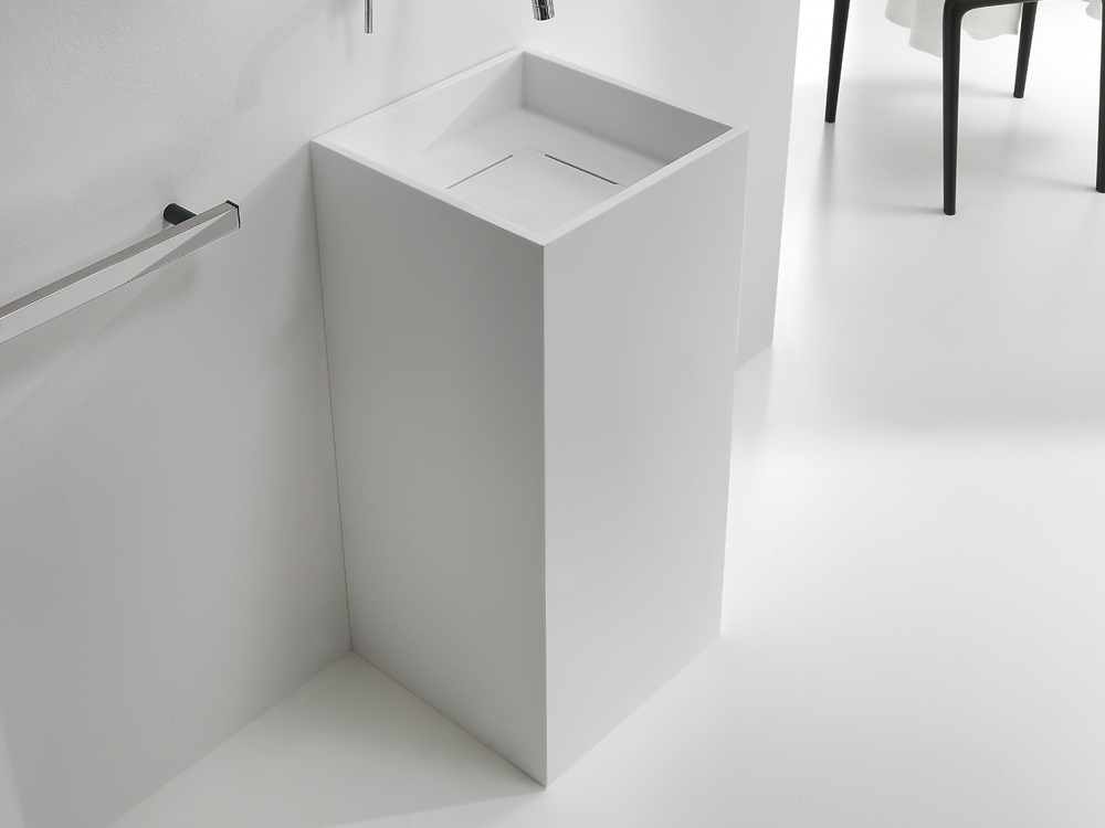 Cubo lavabo sur pied by midioplan by ponte giulio - Meuble lavabo sur pied ...