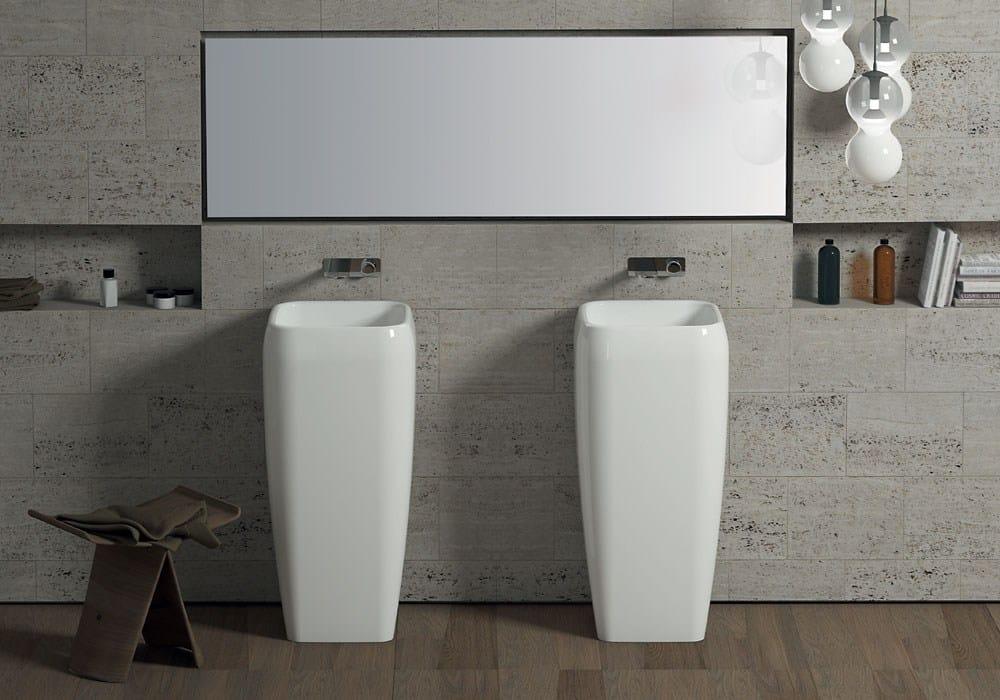 standwaschbecken aus keramik kollektion shui by ceramica. Black Bedroom Furniture Sets. Home Design Ideas