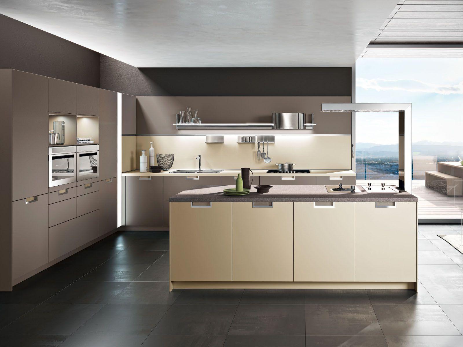Cozinha integral com ilha LUX Cozinha com ilha Snaidero #7C6B4F 1600 1200
