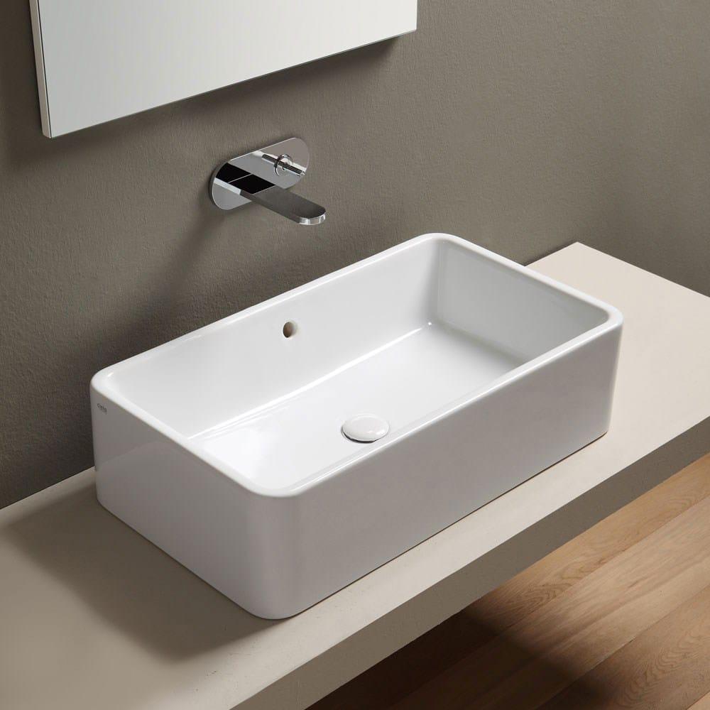Shui lavabo con troppopieno by ceramica cielo design paolo d 39 arrigo - Lavelli da appoggio per bagno ...