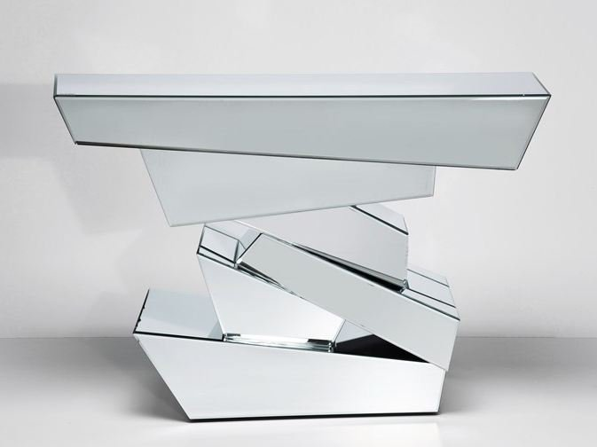 table console en verre miroir collection module by kare design. Black Bedroom Furniture Sets. Home Design Ideas