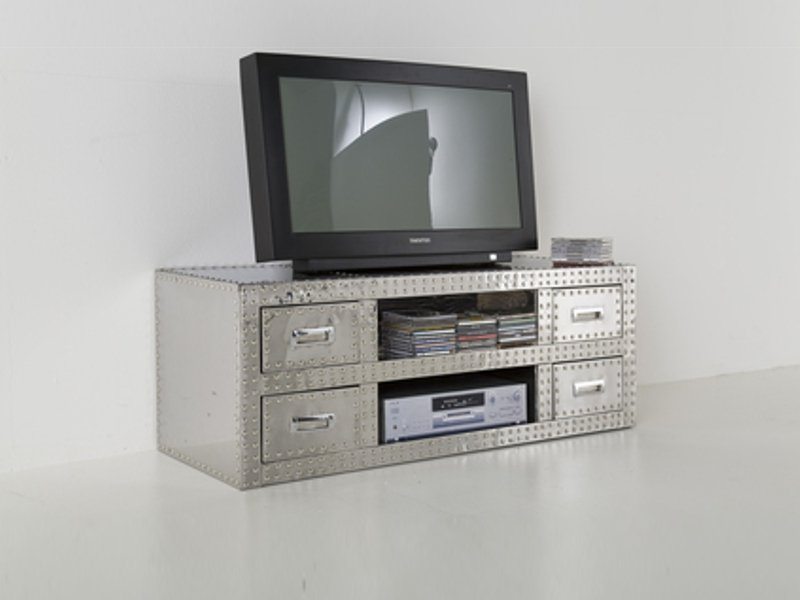 meuble tv en aluminium vegas collection vegas by kare design. Black Bedroom Furniture Sets. Home Design Ideas