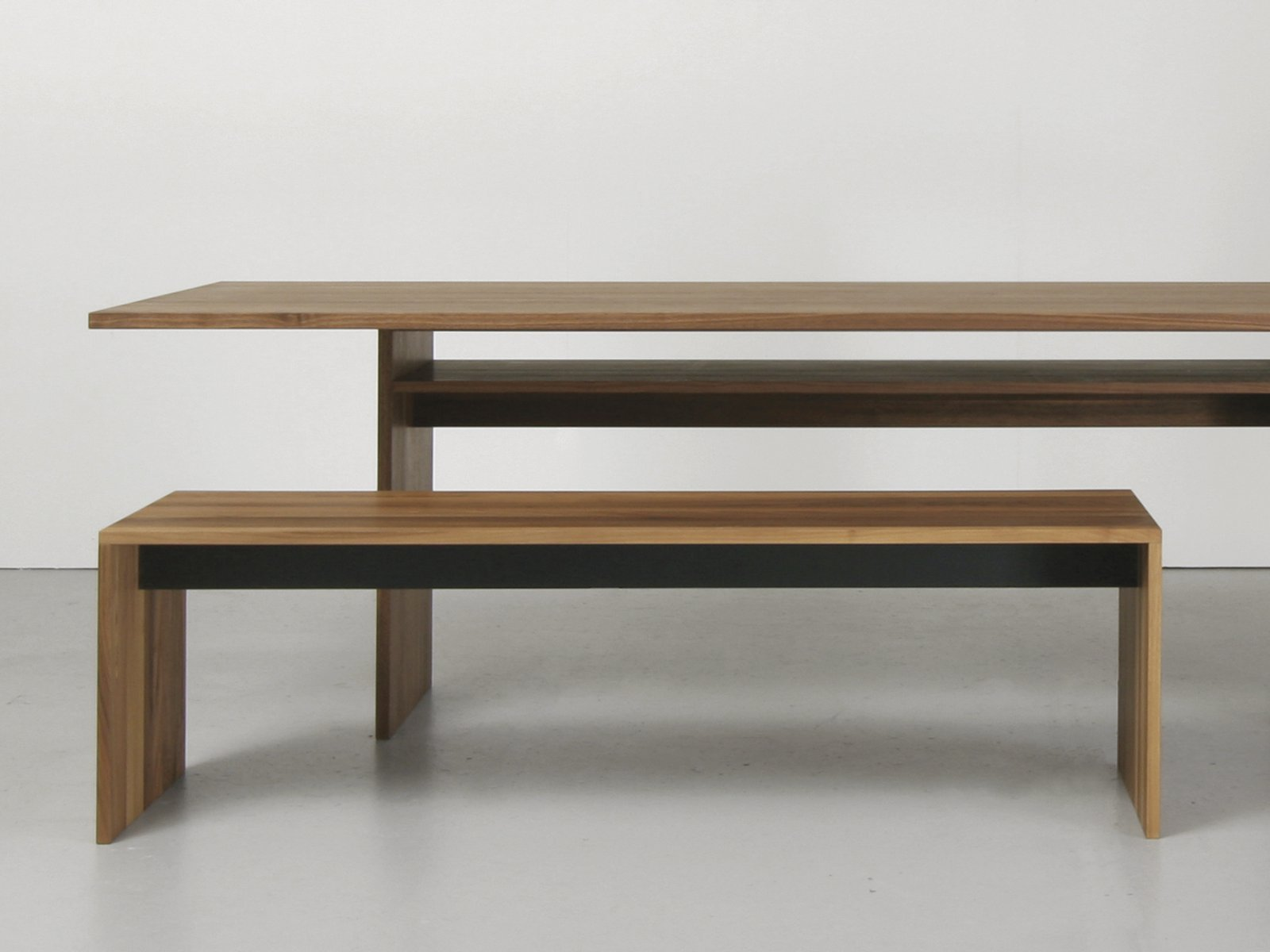 Amazing photo of Solid wood bench FORMAT Bench Sanktjohanser with #7F6345 color and 1600x1200 pixels