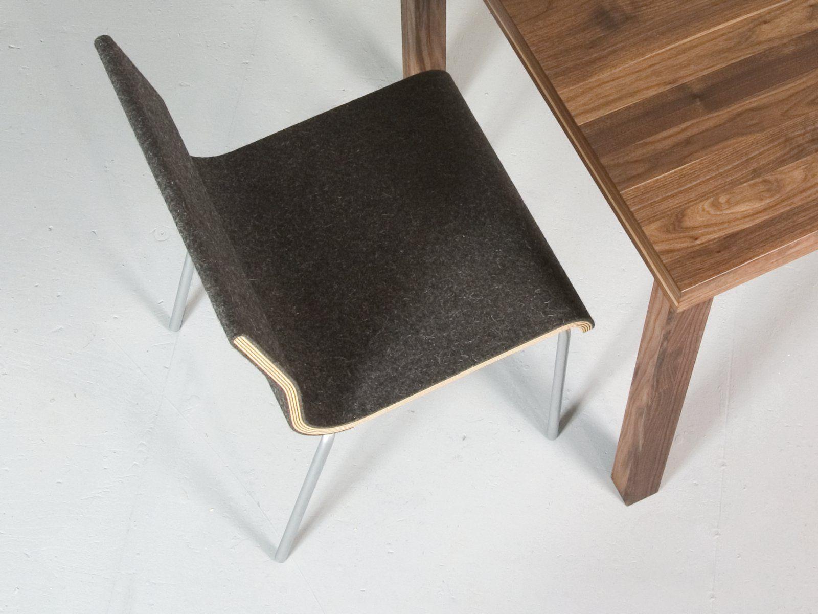 stuhl aus filz slow by sanktjohanser design matthias. Black Bedroom Furniture Sets. Home Design Ideas