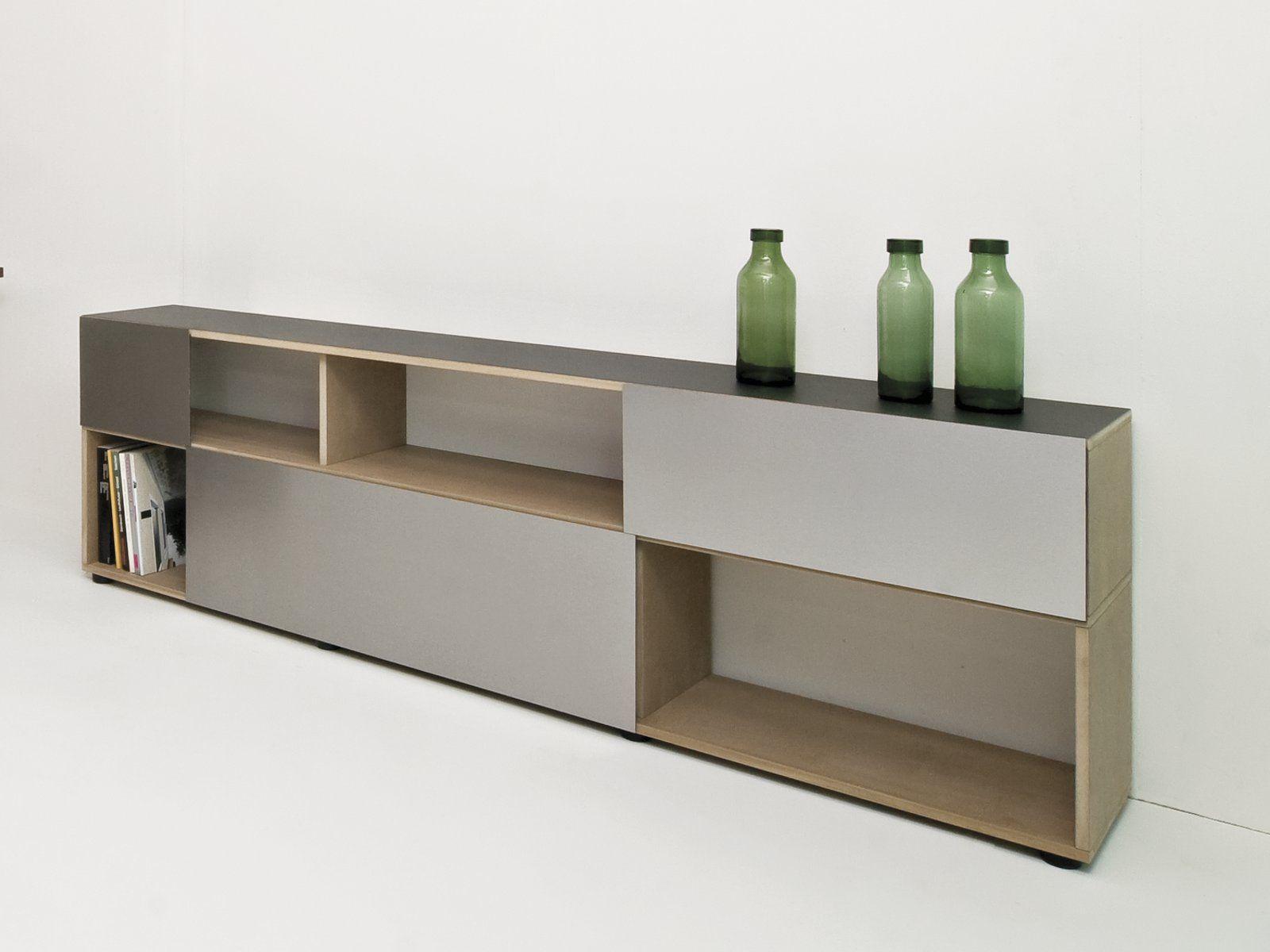 Madia Con Ante Scorrevoli ANALOG By Sanktjohanser Design Matthias  #8E723D 1600 1200 Mobiletti Da Cucina Leroy Merlin