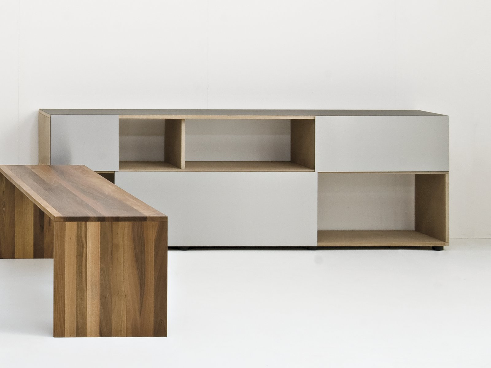 sideboard with sliding doors analog by sanktjohanser. Black Bedroom Furniture Sets. Home Design Ideas