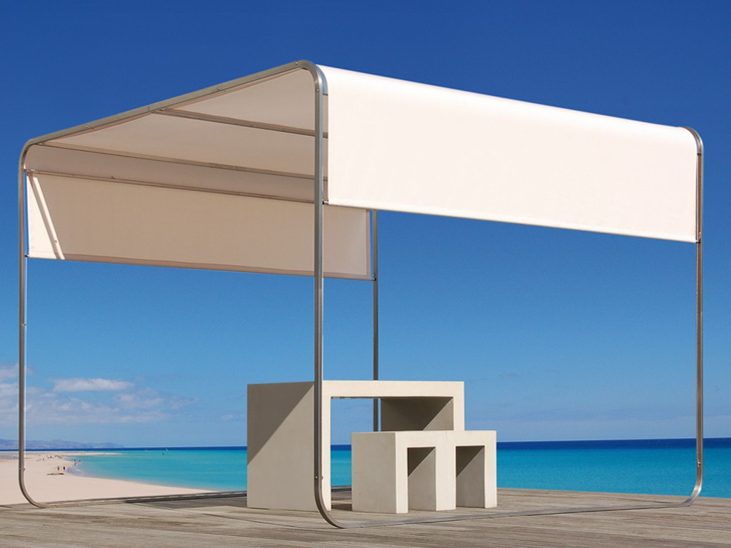 Stainless Steel Gazebo With Sliding Cover Shangrila By