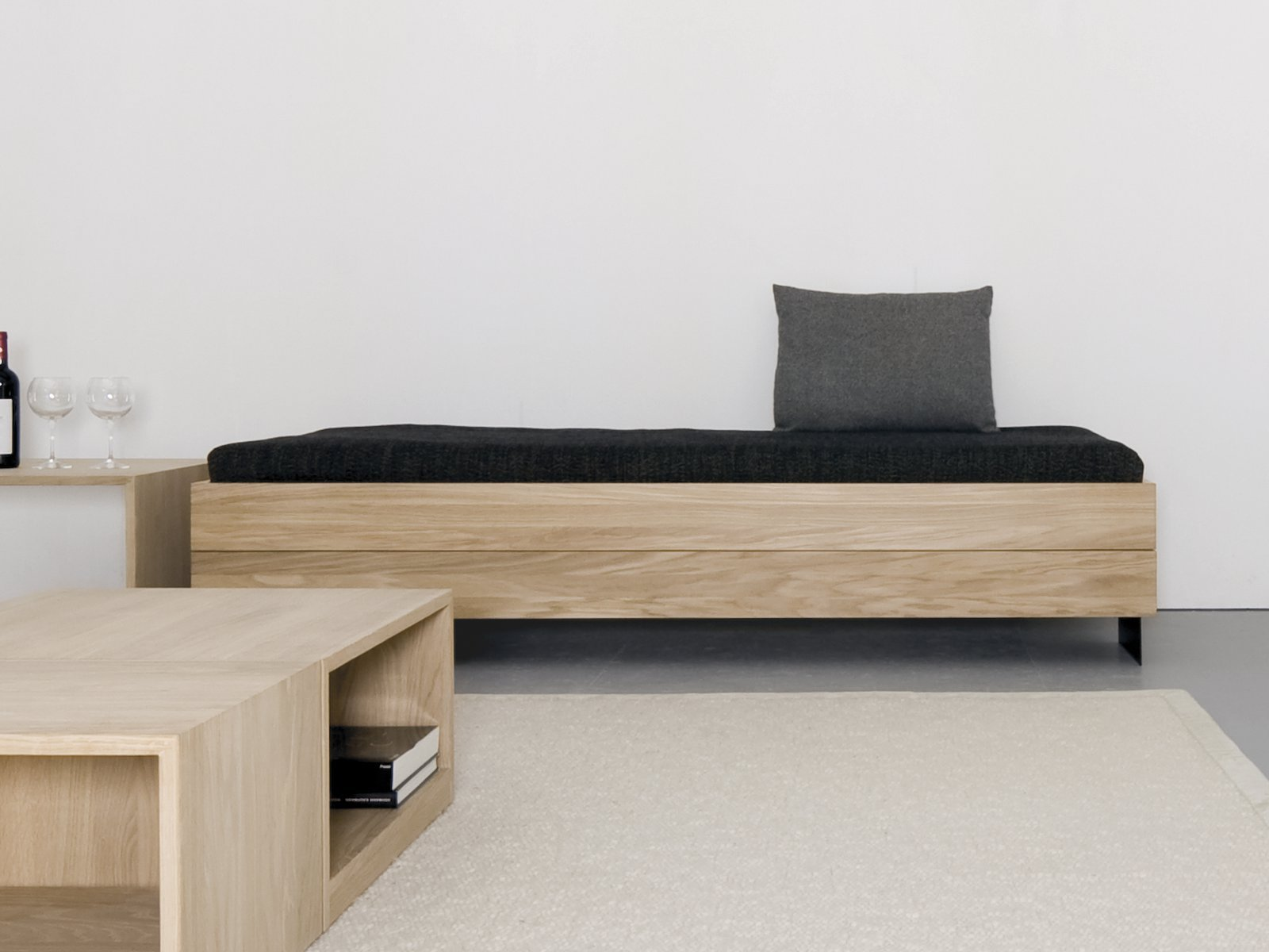 Solid Wood Sofa Bed Iku By Sanktjohanser Design Matthias Hubert Sanktjohanser