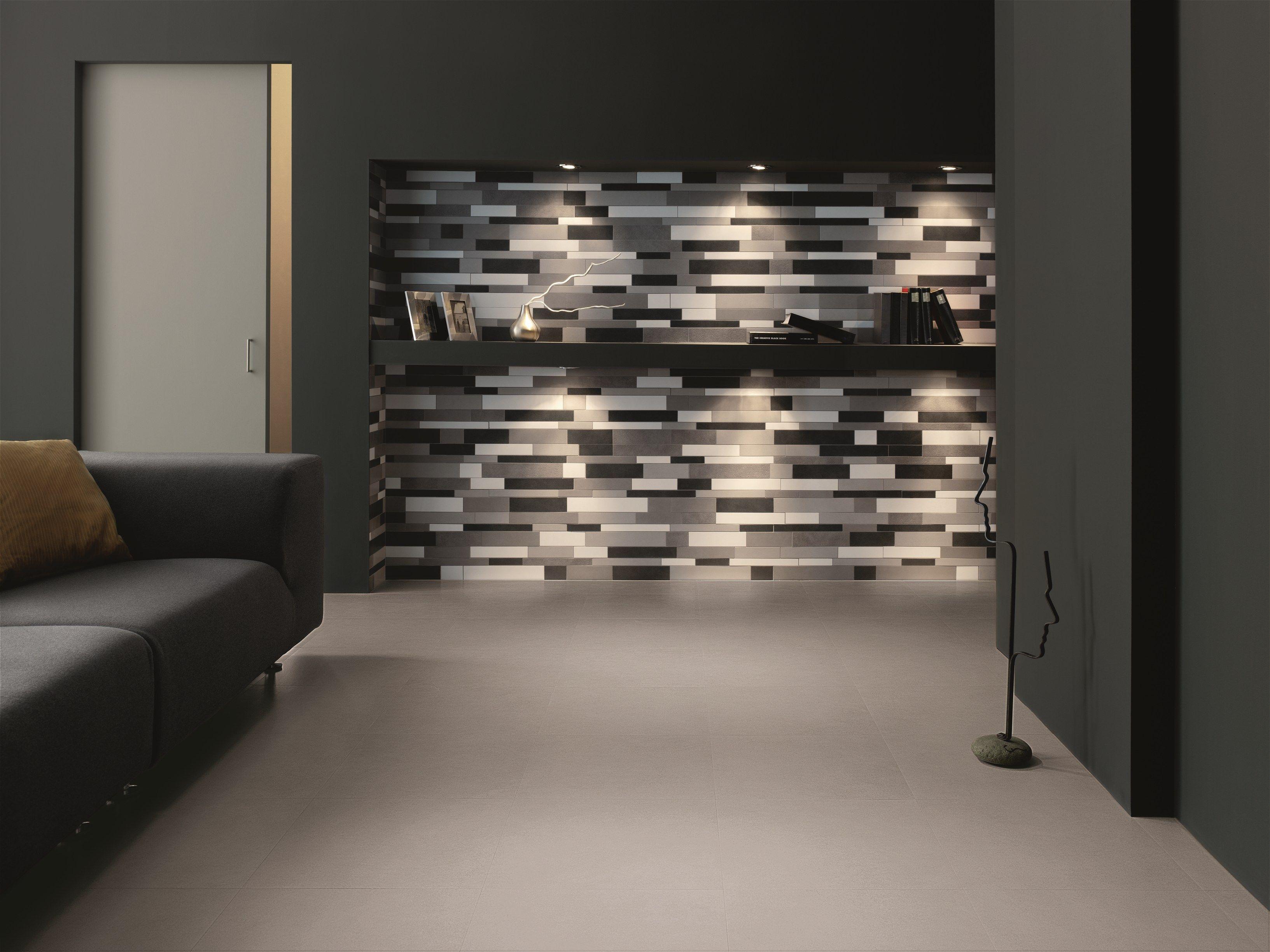 Porcelain stoneware wall floor tiles visual visual - Carrelage au mur ...