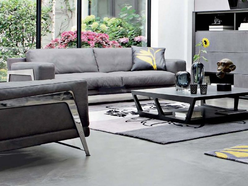Canap rembourr en cuir axiome collection les for Catalogue canape roche bobois