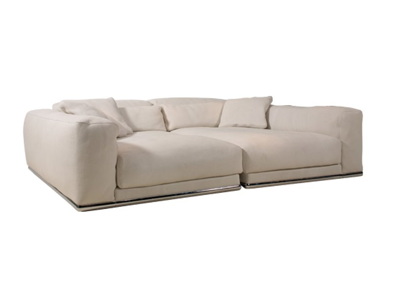 Upholstered leather sofa cinephile particuli re collection by roche bobois - Sofa rock en bobois ...