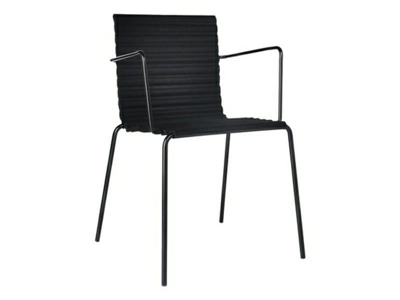 Gepolsterter stuhl aus filz mit armlehnen rib wa for Design stuhl filz