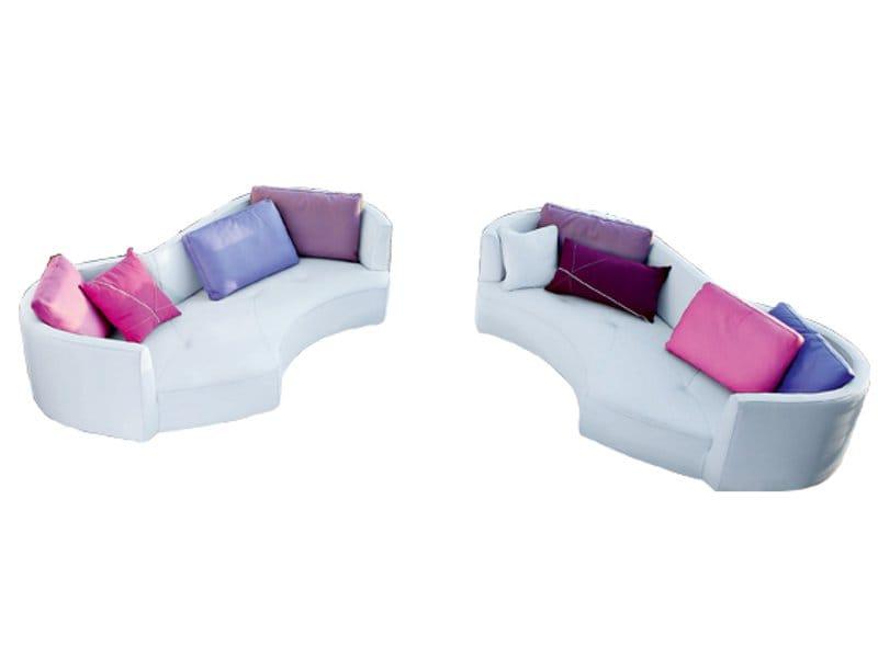 Canap 3 places en cuir tangram by roche bobois design - Prix d un canape roche bobois ...