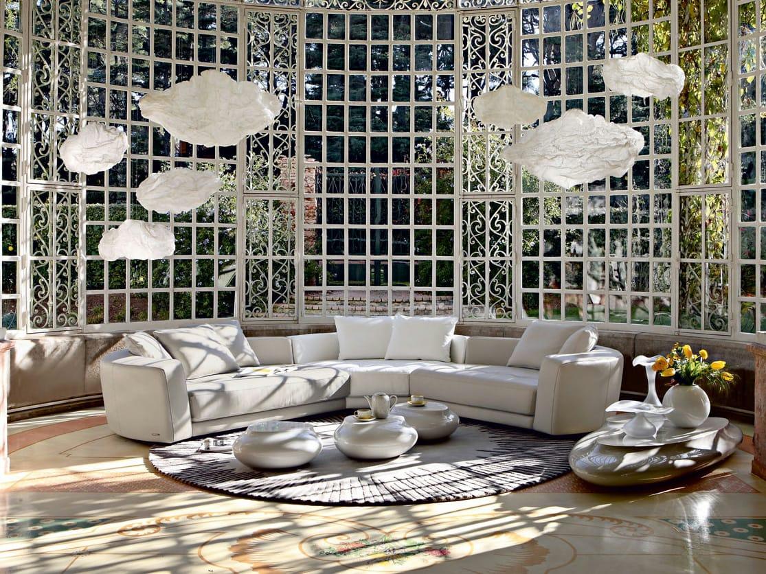 Sectional leather sofa allusion les contemporains collection by roche bobois design philippe bouix - Sofa rock en bobois ...