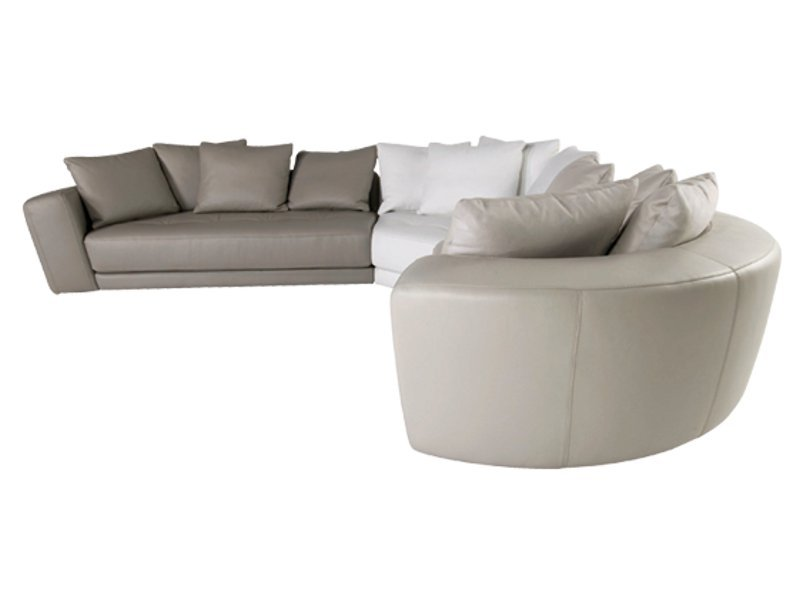 Canap composable en cuir allusion collection les - Canape en cuir contemporain roche bobois ...
