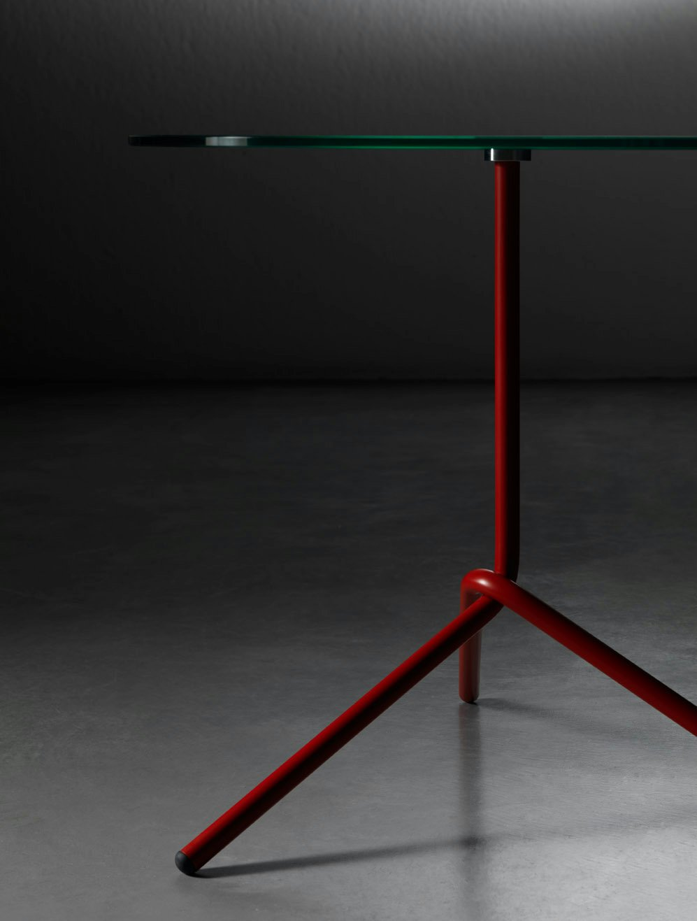 Table basse ronde en verre tremp fil by miniforms design paolo cappello - Table ronde verre trempe ...
