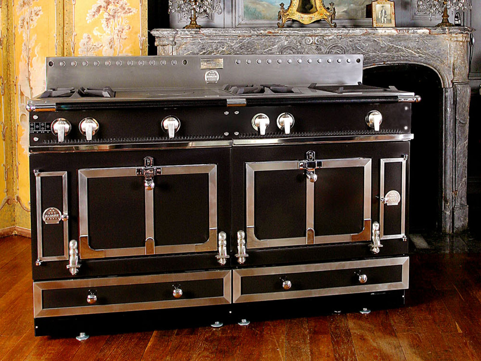 stainless steel cooker ch teau 150 by la cornue. Black Bedroom Furniture Sets. Home Design Ideas