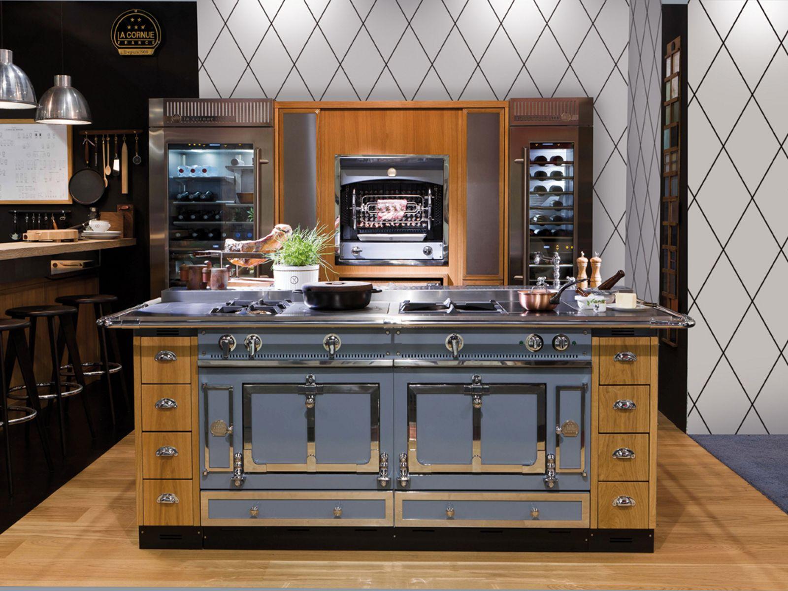 Stainless steel cooker ch teau 150 by la cornue for Piano de cuisine la cornue