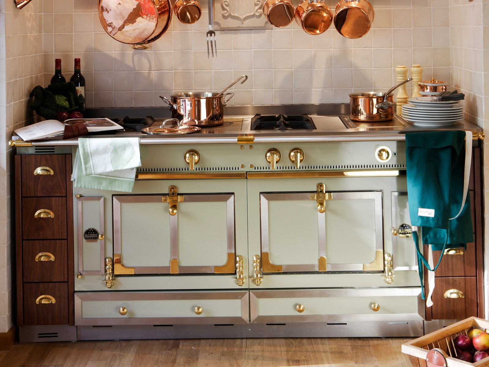 Stainless Steel Ranges In Wood Kitchen
