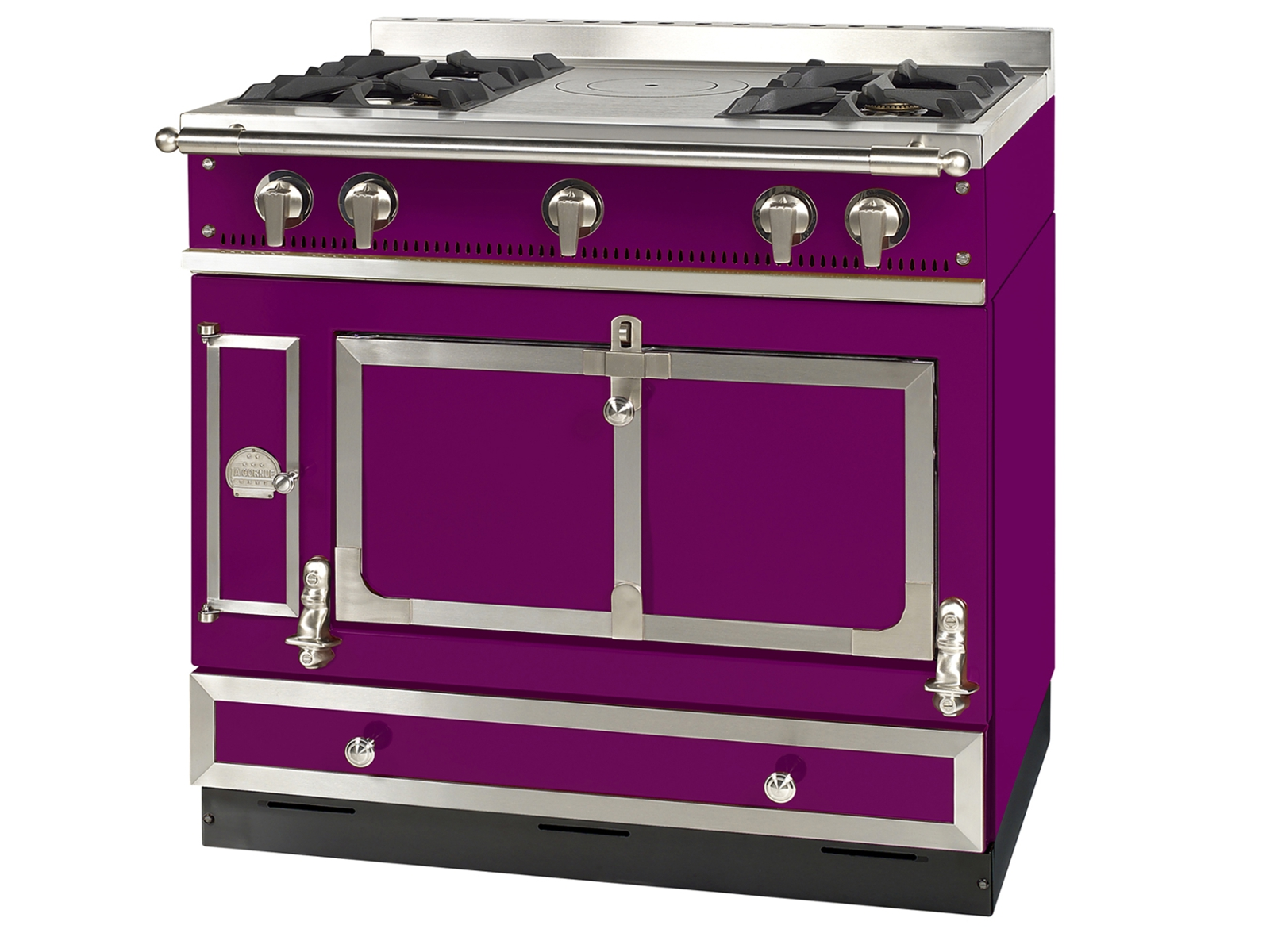 Stainless steel cooker grand castel 90 by la cornue - La cornue chateau 90 ...