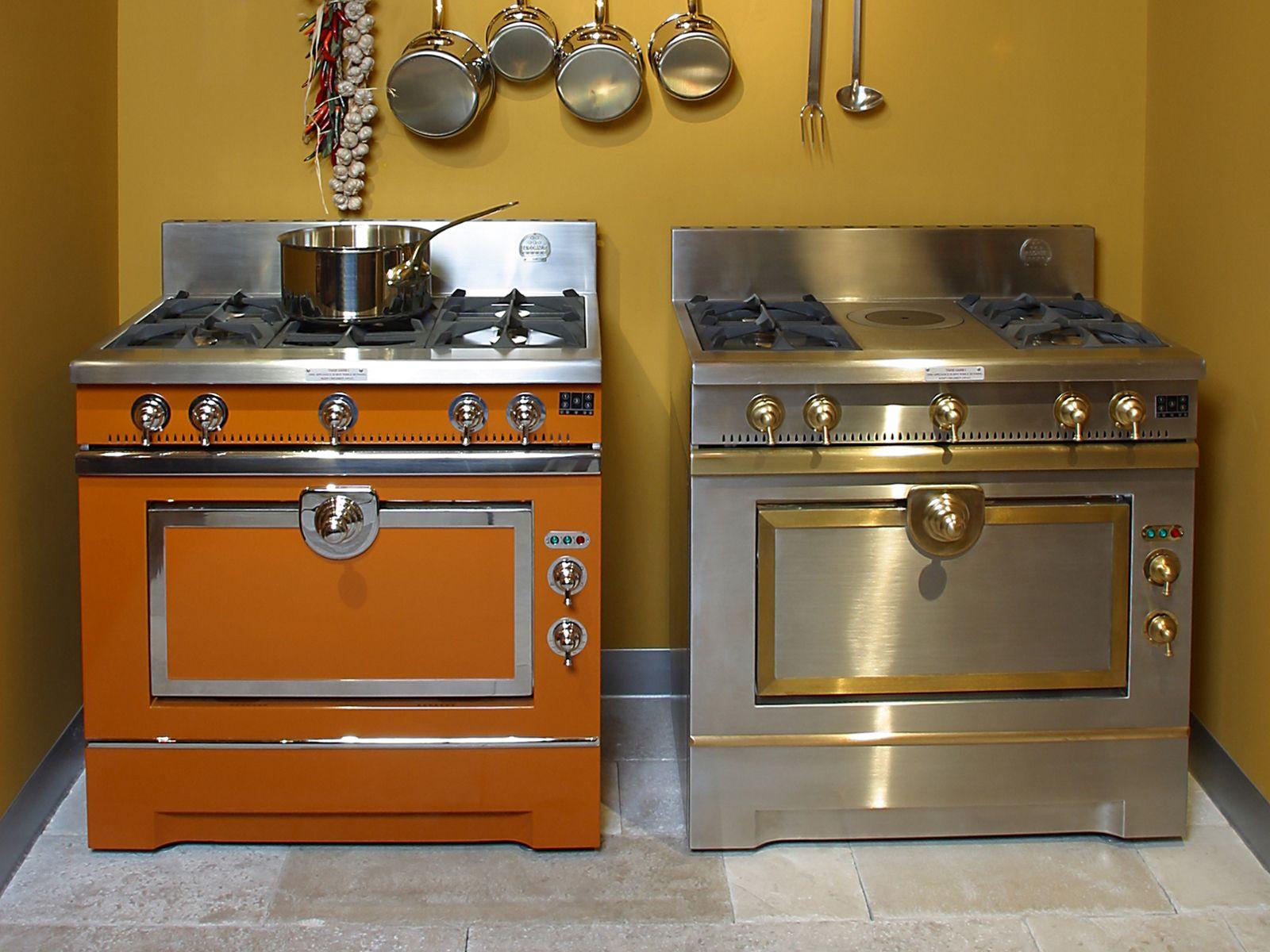 Cucina a libera installazione in acciaio inox grand maman 90 by la cornue - Cucine a gas libera installazione ...