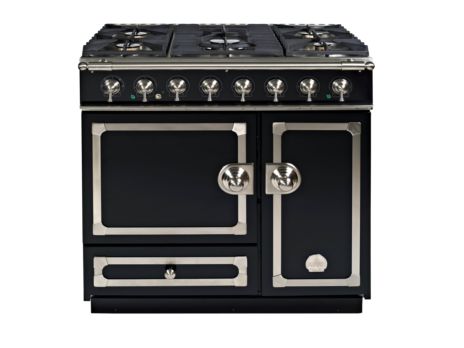 cuisini re en acier inoxydable cornuf 90 by la cornue. Black Bedroom Furniture Sets. Home Design Ideas
