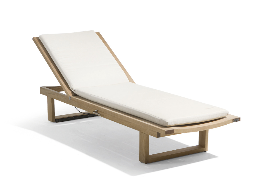 RECLINER TEAK GARDEN DAYBED SIENA COLLECTION BY MANUTTI