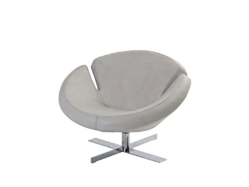 fauteuil en cuir signet collection les contemporains by roche bobois design studio memo. Black Bedroom Furniture Sets. Home Design Ideas