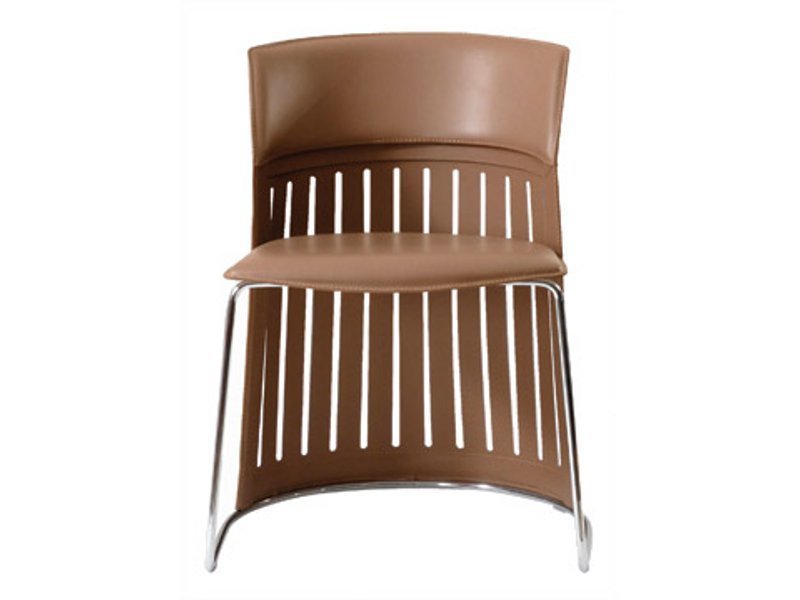 Chaise en cuir canosaka collection les contemporains by roche bobois design - Chaise cuir roche bobois ...