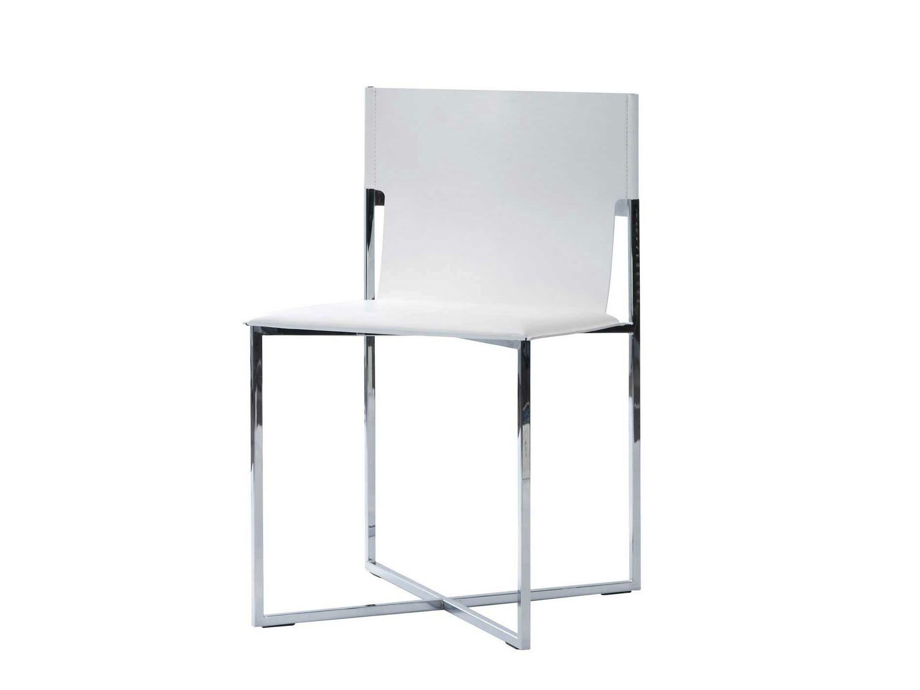 Chaise en cuir fyn by roche bobois - Chaise cuir roche bobois ...