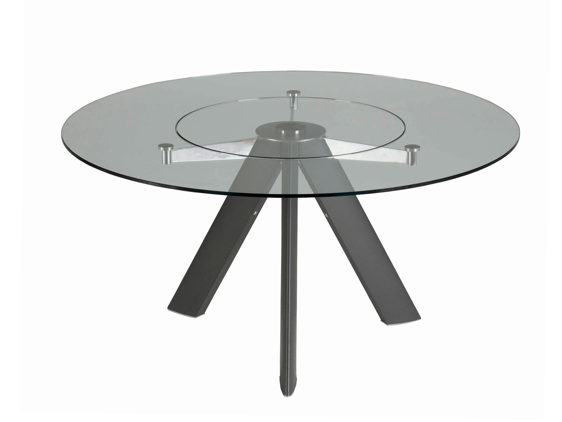 table manger en verre chronos table ronde collection les contemporains by roche bobois. Black Bedroom Furniture Sets. Home Design Ideas