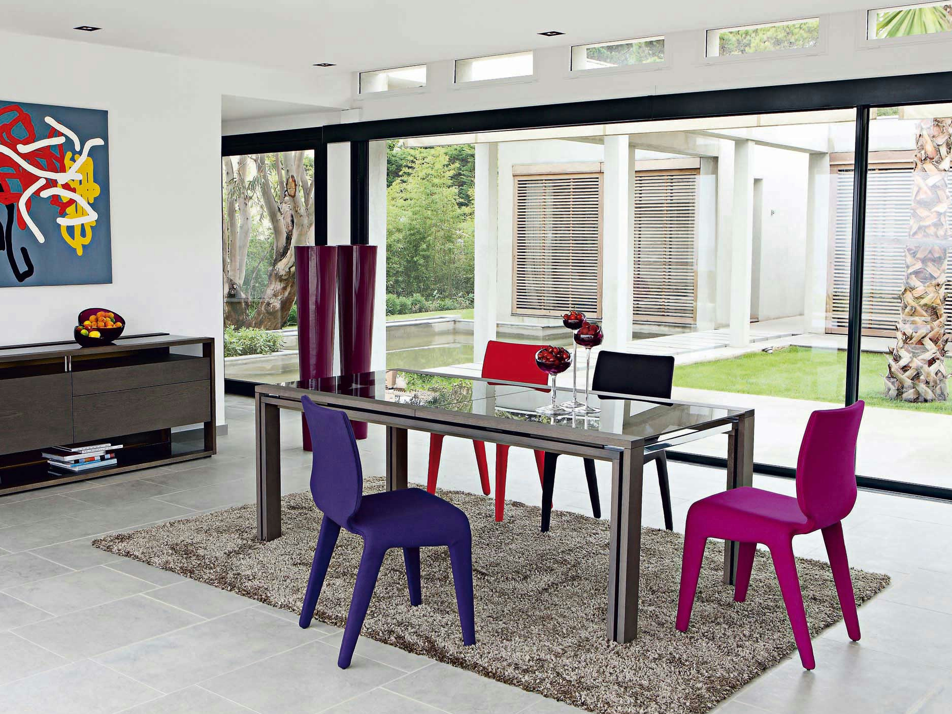 Glassbox table by roche bobois design luigi gorgoni for Sejour table et chaises