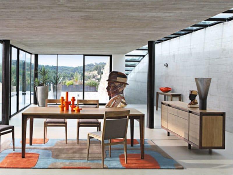 Buffet en bois assemblage collection les contemporains by roche bobois desi - Buffet contemporain roche bobois ...