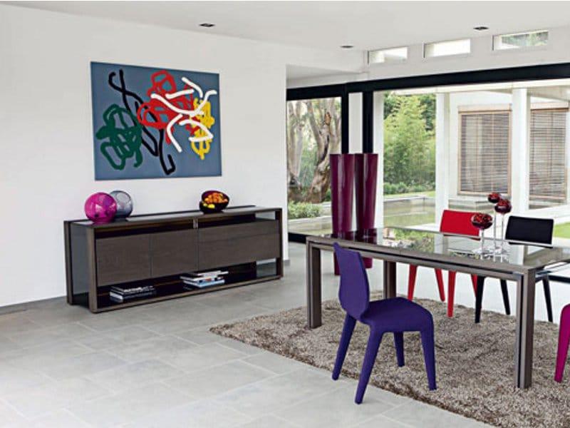 Glassbox buffet by roche bobois design luigi gorgoni - Buffet contemporain roche bobois ...