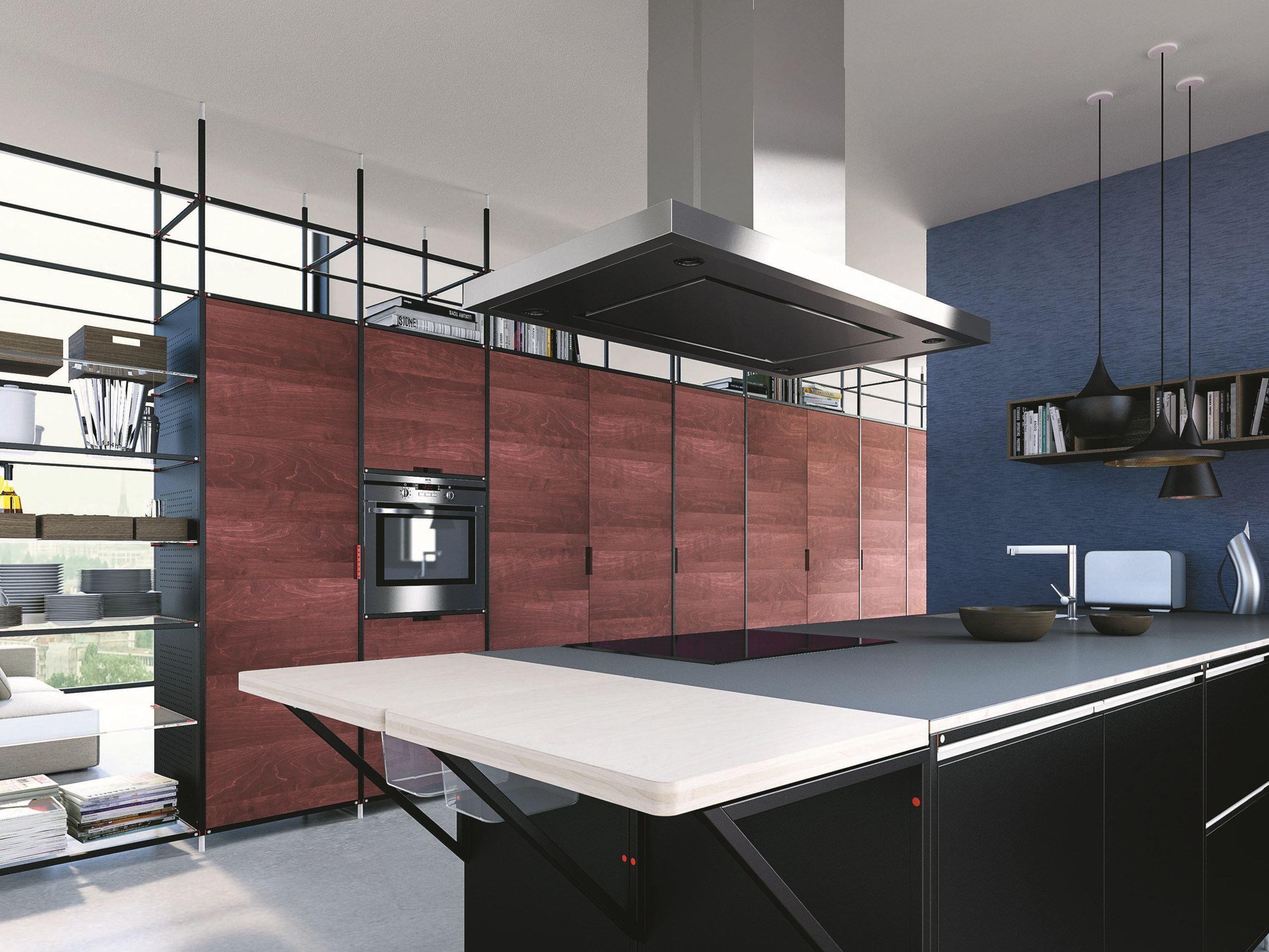 cuisine int gr e en bois multi niveau meccanica by valcucine design gabriele centazzo. Black Bedroom Furniture Sets. Home Design Ideas