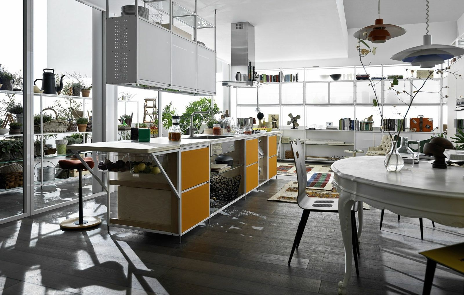 Multi layer wood fitted kitchen meccanica by valcucine for Wooden fitted kitchen