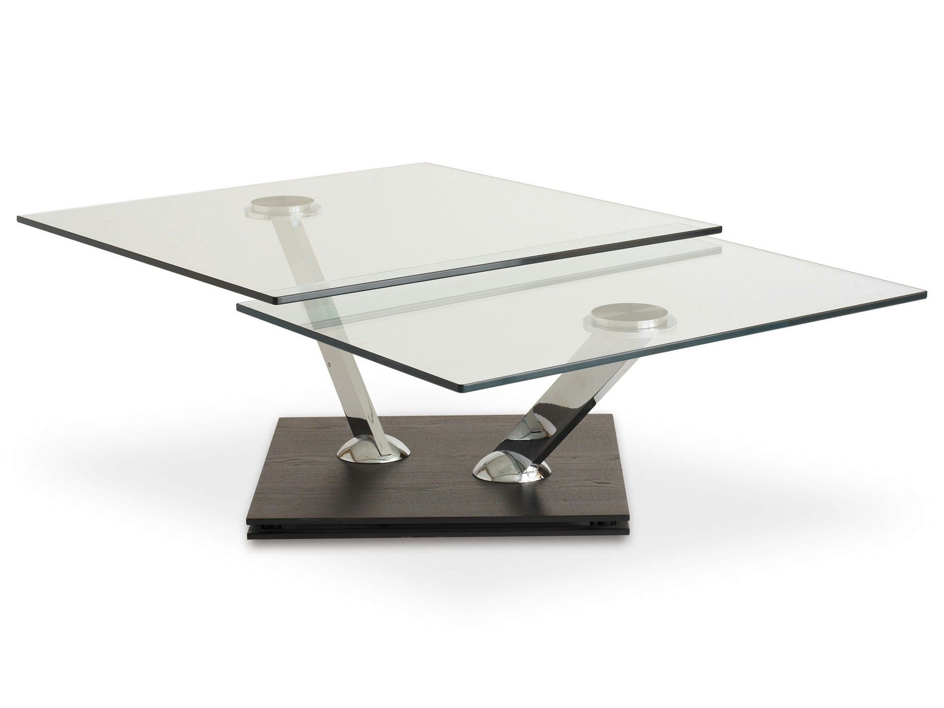 Square coffee table tea time by roche bobois design for Tables de salon roche bobois