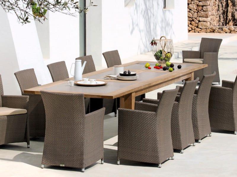 tavolo da giardino allungabile rettangolare in teak