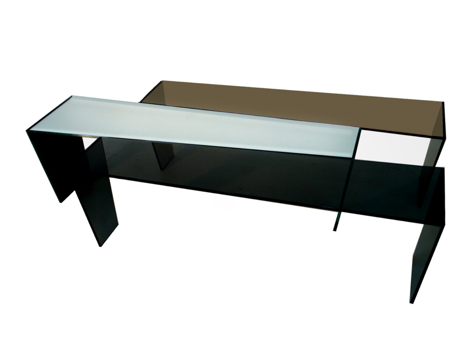 Glass coffee table tris by roche bobois Roche bobois coffee table